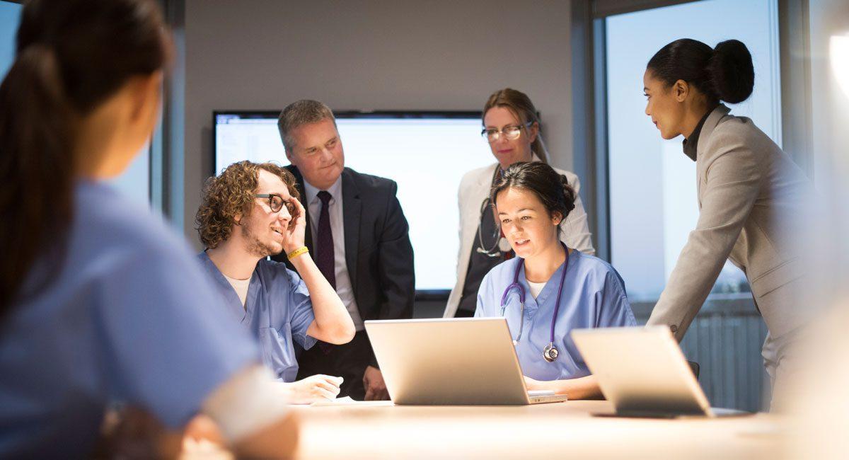 medical team in meeting