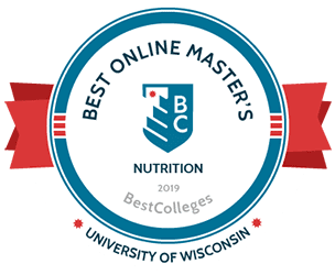 BestColleges.com Best Online Master's in Clinical Nutrition  badge